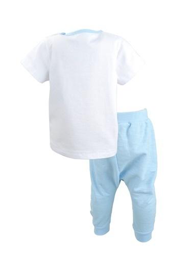 Mininio Beyaz Let's Go T-shirt ve şalvar Takım (3-18ay) Beyaz Let's Go T-shirt ve şalvar Takım (3-18ay) Beyaz